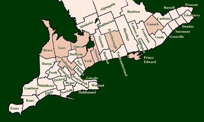 Ontario Counties Map Ontario Counties Map | compressportnederland Ontario Counties Map